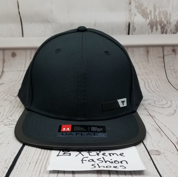 d5c90921 Under Armour Project Rock Hat Hustle Flat Snapback Boutique